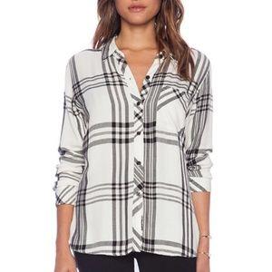 Rails Black & White Hunter Flannel Shirt